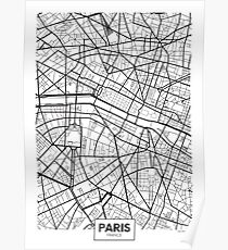 Vector poster map city Paris Poster