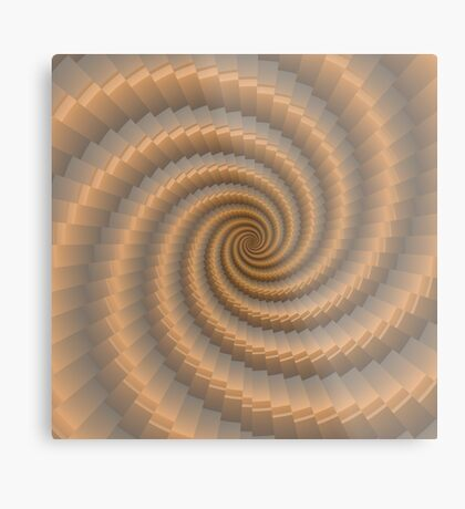 Swirling Gold by Julie Everhart Metal Print