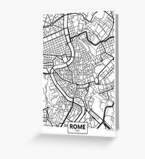 Vector poster map city Rome Greeting Card