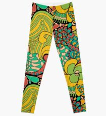Psychedelisches Muster der Hippies 60s Leggings