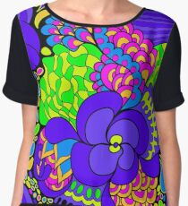 60s hippie psychedelic pattern Chiffon Top