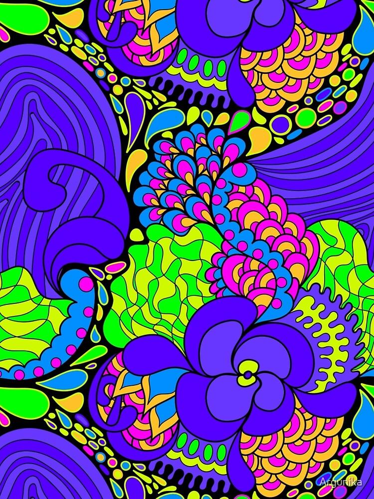 60s hippie psychedelic pattern by Argunika