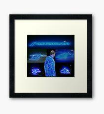 retro tv series automan mashup Framed Print