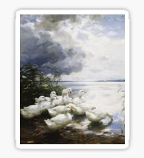 Alexander Max Koester - Ducks At The Lake S Edge Sticker