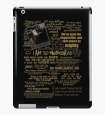 Captain Quotes iPad Case/Skin