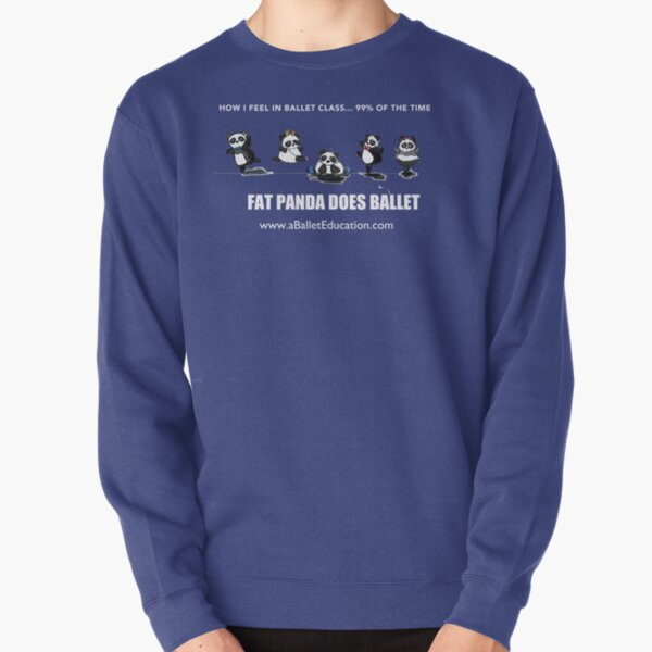 FAT PANDA DOES BALLET Pullover Sweatshirt