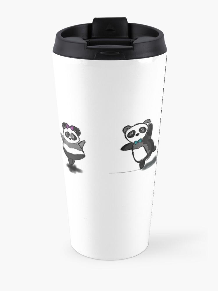 Alternate view of FAT PANDA DOES BALLET Travel Mug