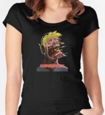 Headsnack Screaming Headphones Women's Fitted Scoop T-Shirt