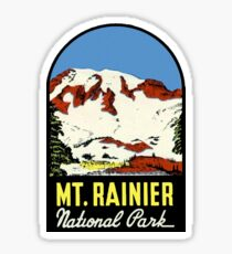Mount Rainier Washington National Park Vintage Travel Decal Sticker