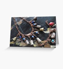 Thimbell Bells Necklace and Charm Bracelet Greeting Card