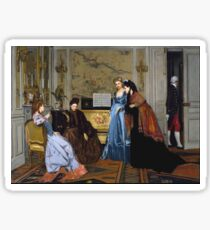 Alfred Stevens - Elegant Figures In A Salon 1840 Sticker