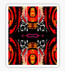 Heated Abstract Moments  Sticker