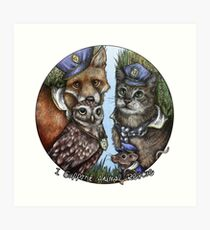 I Support Animal Rescue Art Print
