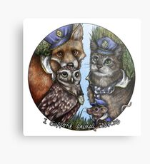I Support Animal Rescue Metal Print
