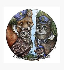 I Support Animal Rescue Photographic Print