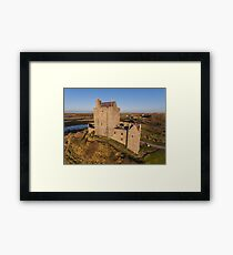 Aerial view of Irish Castle sunset landscape Framed Print