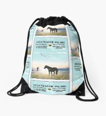 WPA Style Assateague Seashore Drawstring Bag