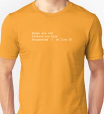 Syntax error poem T-Shirt
