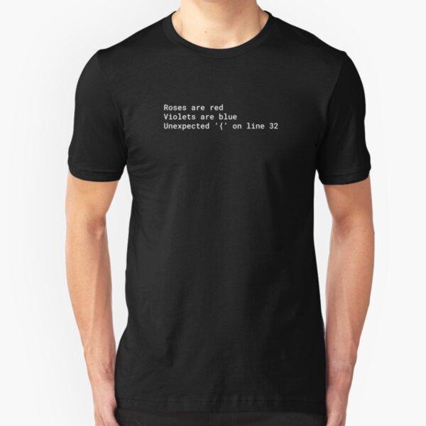 Syntax error poem Slim Fit T-Shirt