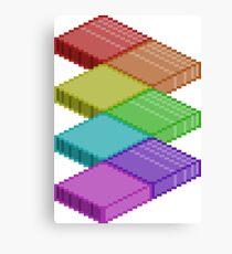 Isometric Rainbow Canvas Print