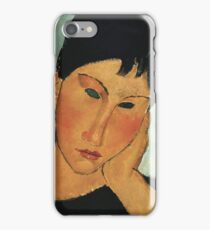 Amedeo Modigliani - Detail Of Female Head From Elvira Resting At A Table iPhone Case/Skin