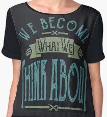 Think About | Inspirational T-shirt Chiffon Top