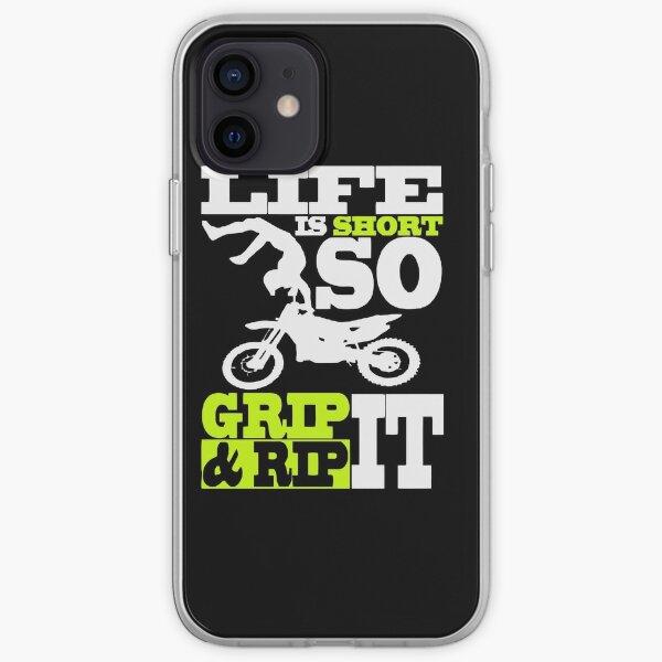 Motocross, - Dirt bike - Motocycle Funda blanda para iPhone