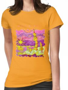FUN BEACH LIGHTHOUSE OCEAN SEASCAPE Womens Fitted T-Shirt