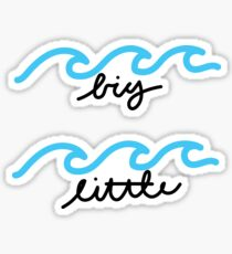 Big and little waves sticker pair Sticker