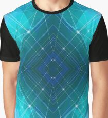Blue Wire Graphic T-Shirt