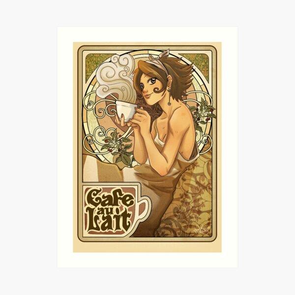 Cafe au Lait Lámina artística