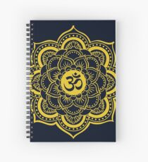 Sacred Geometry Ohm Spiral Notebook