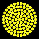 Circle Packing Yellow 91  by Rupert Russell