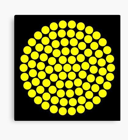 Circle Packing Yellow 91  Canvas Print