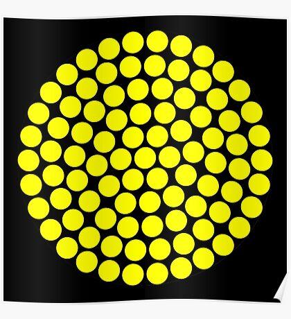 Circle Packing Yellow 91  Poster