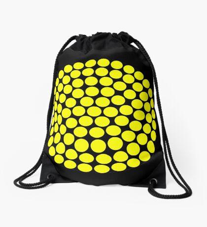 Circle Packing Yellow 91  Drawstring Bag