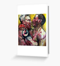 EMBRACE - MMA UFC FIGHTERS PAINTING Greeting Card