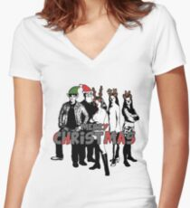 Merry Christmas from The Scooby Gang! Women's Fitted V-Neck T-Shirt
