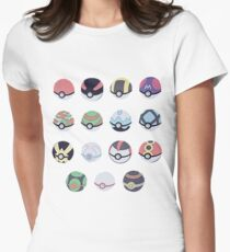 Pokemon Balls Women's Fitted T-Shirt