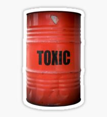 Toxic Waste Barrel Sticker