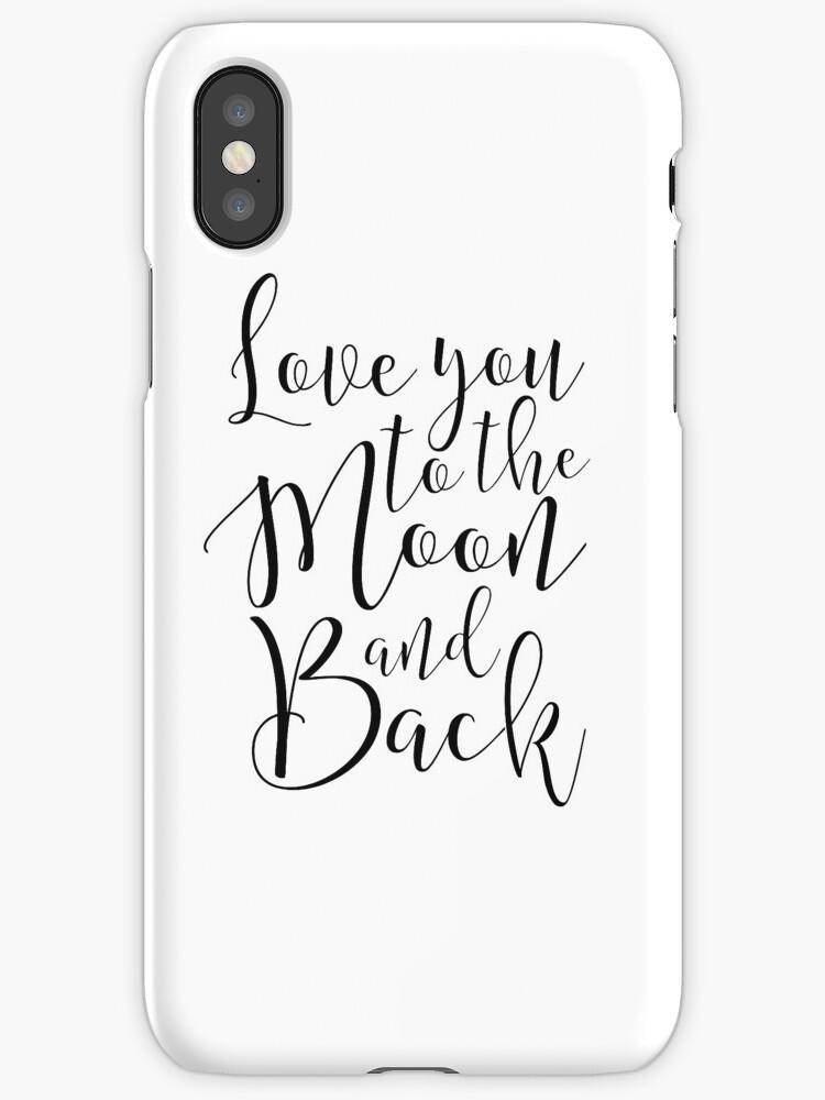 Vinilos y fundas para iPhone «te amo a la luna y a la vuelta ...