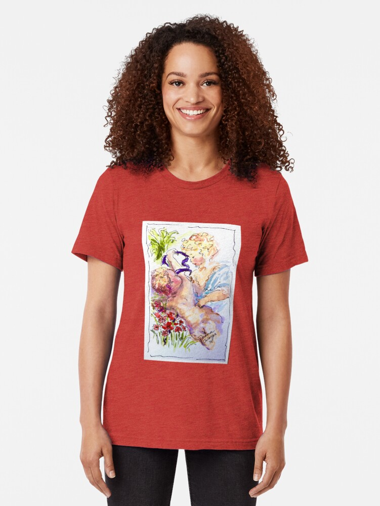 Alternate view of Angel of Compassion Tri-blend T-Shirt