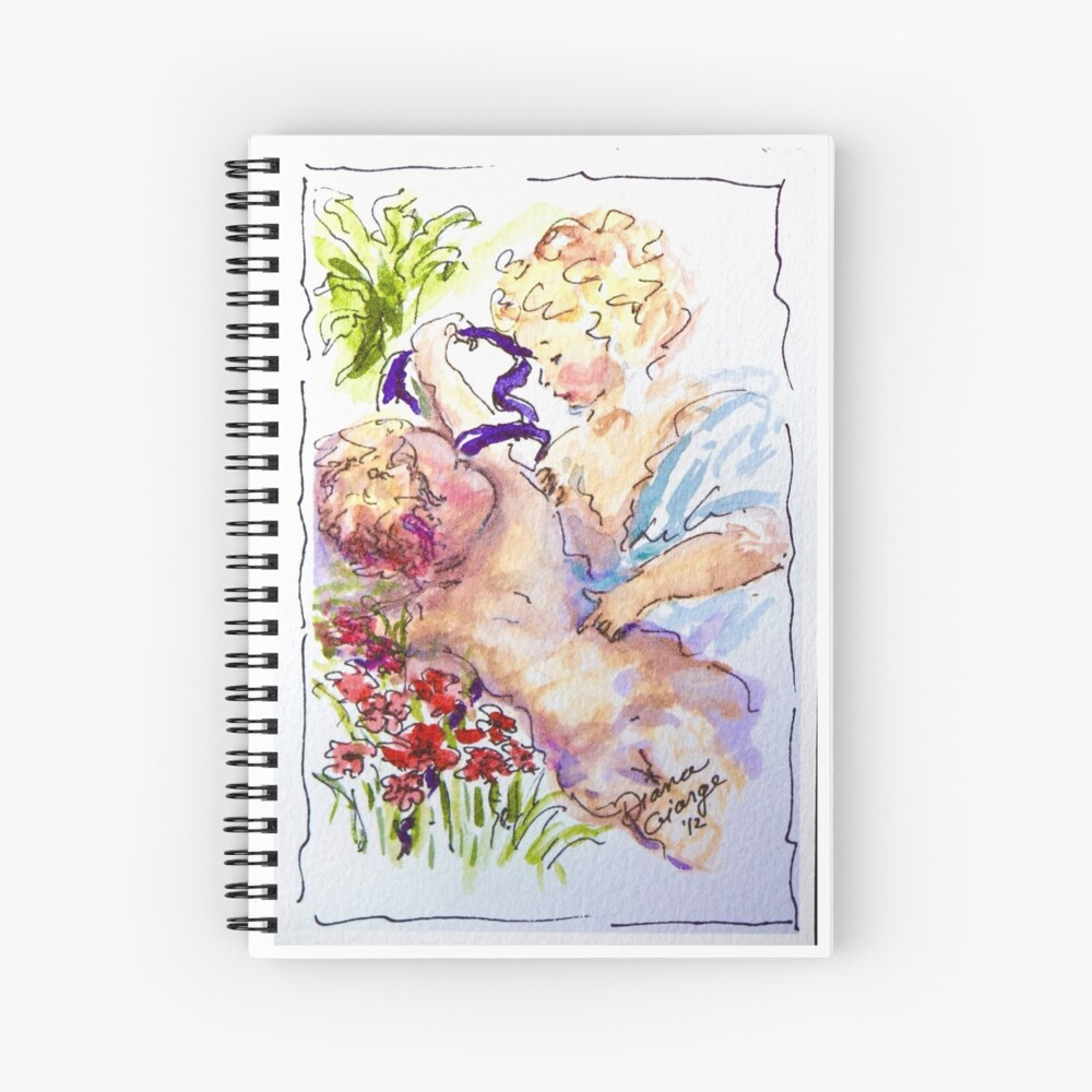 Angel of Compassion Spiral Notebook