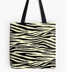 0357 Lemon Chiffon Tiger Tote Bag