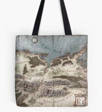 Lands of Shadowgate Map Tote Bag