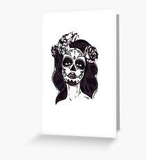Gothic Skull Greeting Card