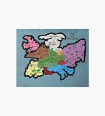 Map of the Nine Kingdoms Art Board