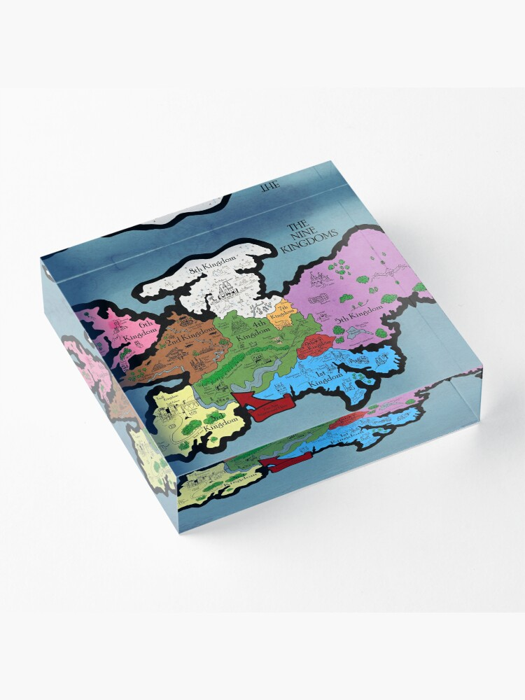 Alternative Ansicht von Karte der Neun Königreiche Acrylblock