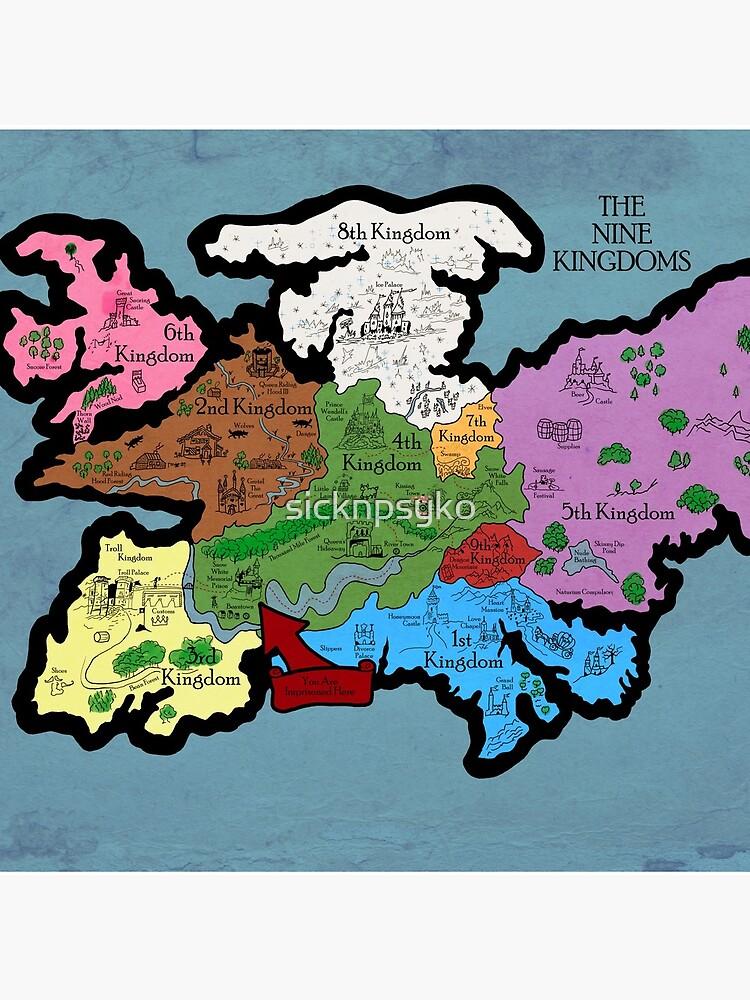 Karte der Neun Königreiche von sicknpsyko