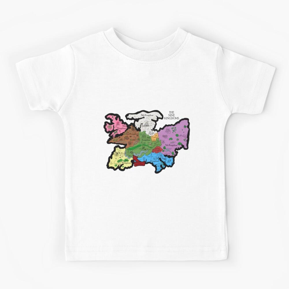 Karte der Neun Königreiche Kinder T-Shirt
